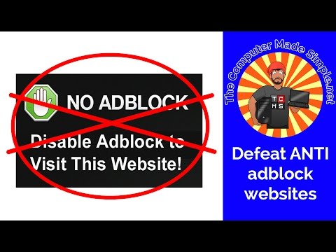 How to view ANTI adblock websites - QUICK TIPS