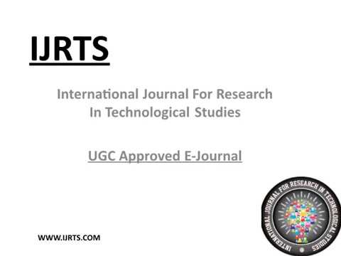 #IJRTS :  How to Submit Paper : Research Journal for paper publication : UGC Approved Journal list