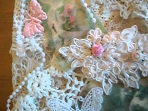Shabby chic/ vintage wall hanging by ANGELICALACE @ETSY.COM