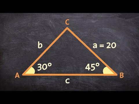 Determine the remaining parts of a triangle using the law of sines