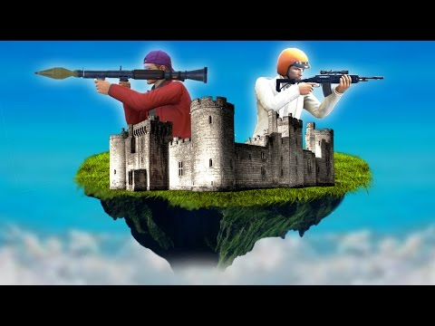DEFEND THE FLOATING CASTLE! (GTA 5 Funny Moments)