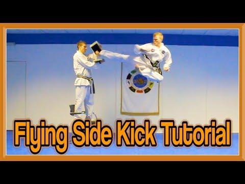 Taekwondo Jump/Flying Side Kick Tutorial | GNT How to