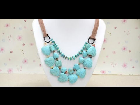 Multi Strand Turquoise Bead Necklace