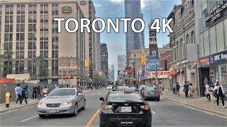 Driving Downtown - Toronto's Main Street 4K - Canada