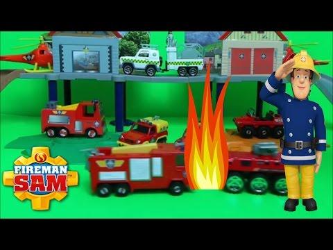 Firefighter Fireman Sam Jupiter Fire Engine and Venus Truck Crashes