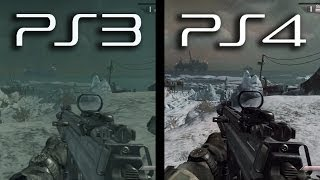 Ghosts: PS3 vs. PS4 Gameplay Comparison (Current Next Gen Graphics New Playstation 4 1080p HD)