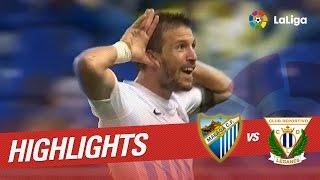 Resumen de Málaga CF vs CD Leganés (4-0)