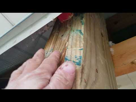 #1. Cutting in a garage door opening in a pole barn.