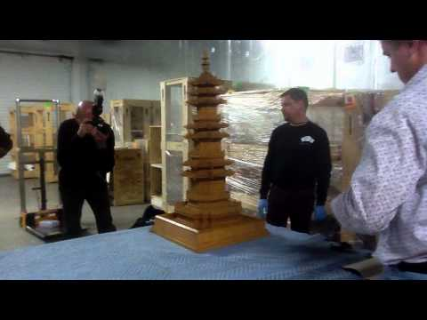 Making the Pagoda exhibit