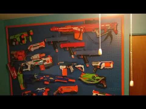 Epic nerf gun wall