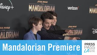 Mandalorian Premiere in Hollywood with Pedro Pascal