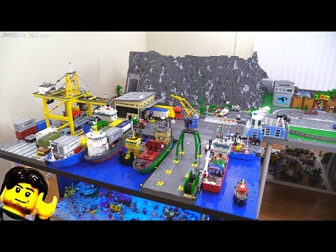 Very small LEGO city update -- I added a cargo port fence