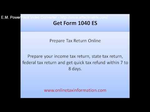 Get Form 1040 ES