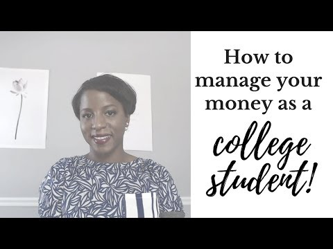 How To Manage Your Money As A College Student!