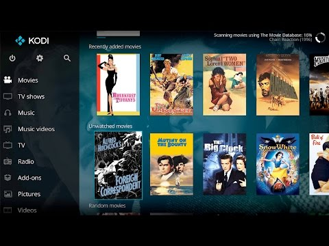 KODI 17 Movies and TV Shows - No add-on Required