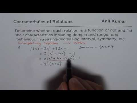 How to Find Range by Completing Square of Quadratic Function