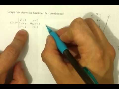 Continuous or Discontinuous; Piecewise Functions