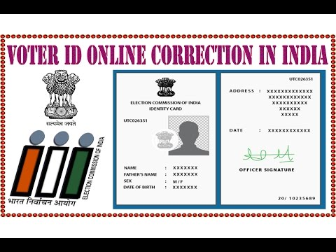 VOTER IDENTITY CARD CORRECTION ONLINE IN INDIA IN HINDI