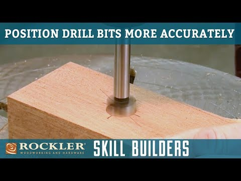 How to Position Drill Bits Accurately | Rockler Skill Builders