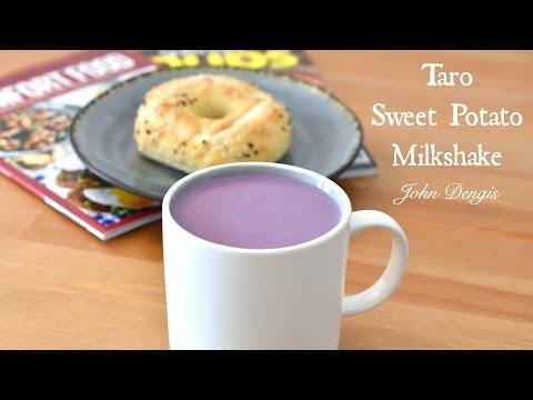 Taro and Sweet Potato Milk Shake | John Dengis