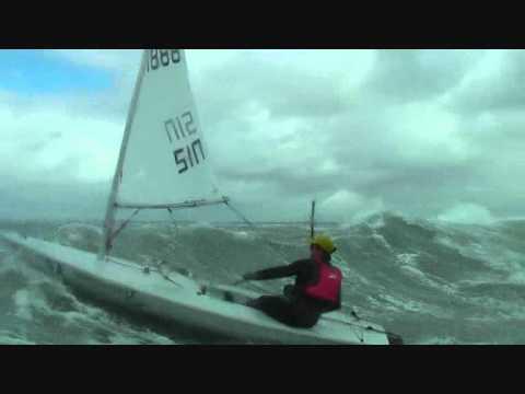 Laser sailing big air and waves