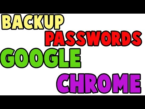 How to backup saved passwords in google chrome in excel sheet