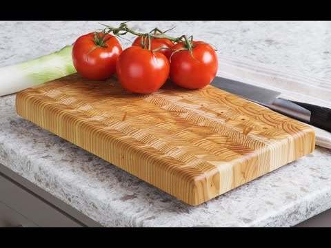 A cutting board with no cut marks.