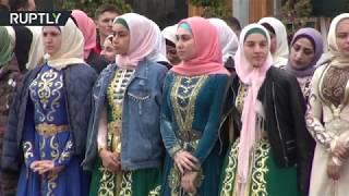 #x202b;زفاف جماعي في العاصمة الشيشانية غروزني#x202c;lrm;