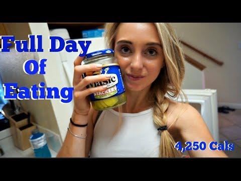 Full Day of Eating On a Work Day| 4,250 Cals|Bulk Update| Bikini Booty Ep. 30