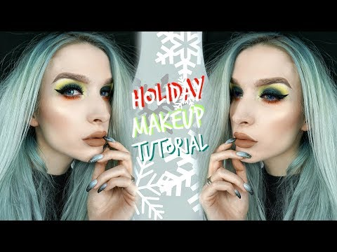 Unconventional Holiday Makeup + 2 Lip Options