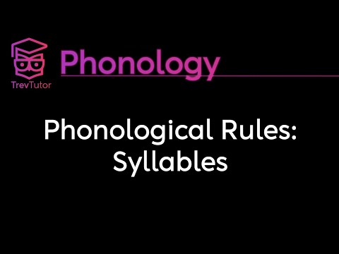 [Phonology] Syllable Rules