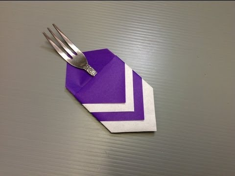 Origami Paper Utensil Holder - Use Paper or Napkins!