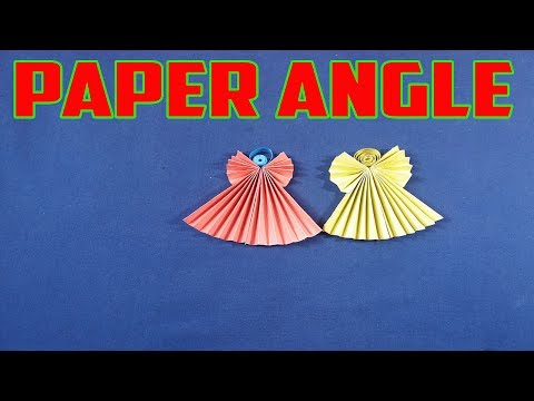 How to Make an Angel Using Paper Very Easy Step By Step Tutorial Making Paper Angel Instruction