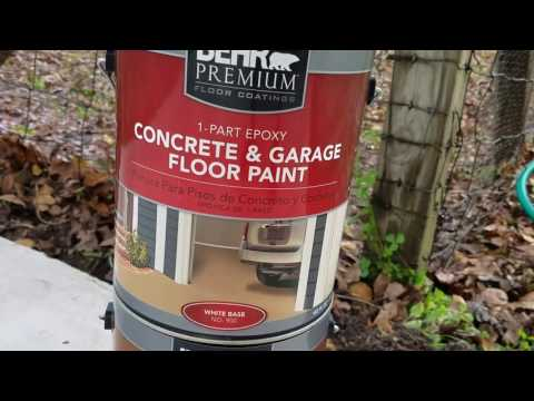 Behr Garage 1 part epoxy paint installation and result