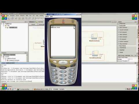 How to create Java Mobile Application in NetBeans