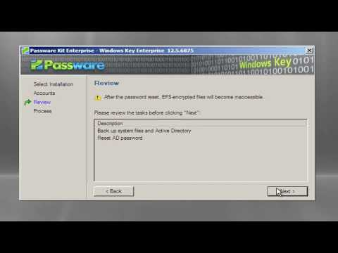How to reset a lost Domain Administrator Password in a couple of minutes.