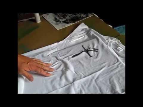 Spray Your Logo onto a T-shirt using Fabric Spray Paint