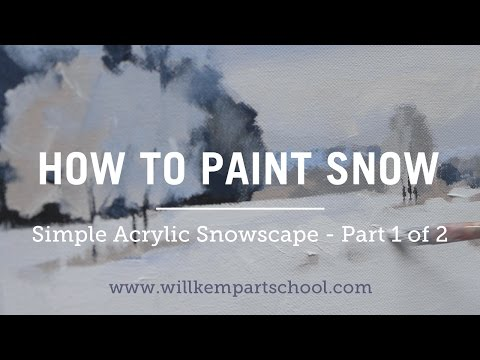 How to Paint an Impressionistic Snowscene in Acrylics - (Part 1 of 2) HD