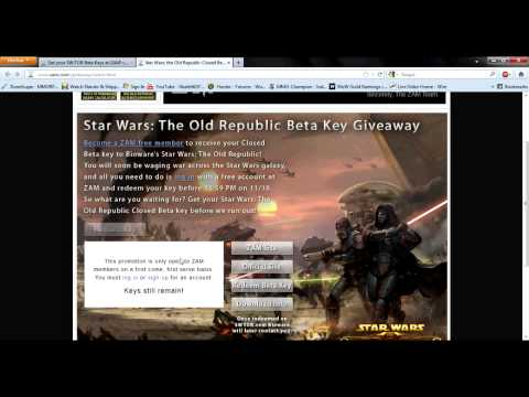 Get your SWTOR BETA KEY RIGHT NOW! - How to get a key!! be quick!