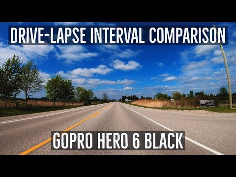 Drive Lapse Interval Comparison | GoPro Hero 6 Black