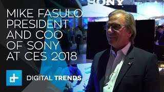 Mike Fasulo President and COO of Sony - Interview at CES 2018