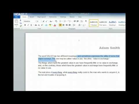 Word 2010 - Select, Delete, and Replace Text - Microsoft Office 2010 Training