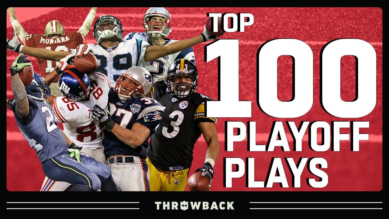 Top 100 Plays in Playoff History!   NFL Throwback
