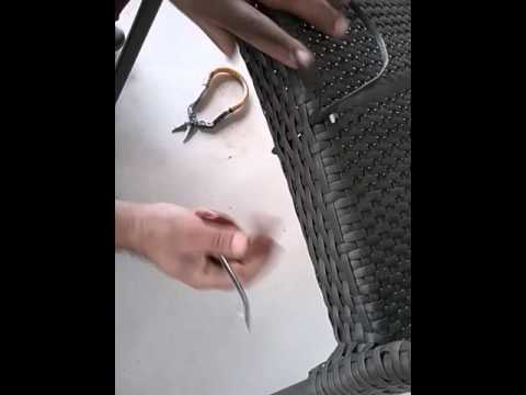 How to repair peel broken on the seat of wicker chair