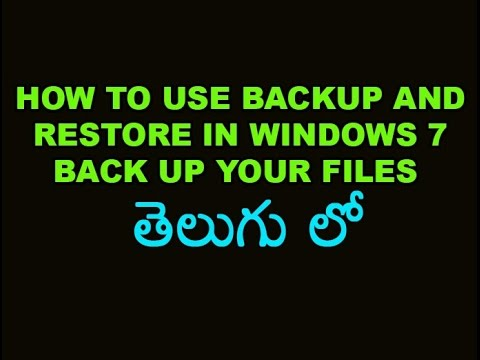 How To Use Backup and Restore in Windows 7 Back up your files Telugu