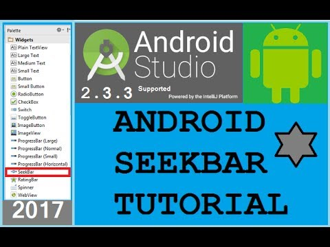 Android studio tutorial - Android SeekBar Example with change layout color level. NEW