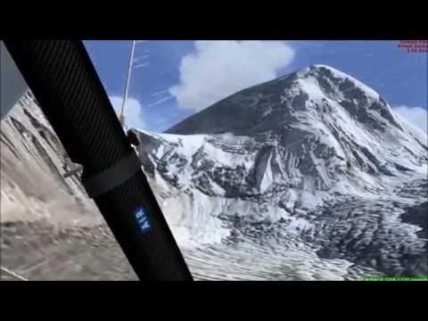 FSX Manchester UK to Nepal . HD