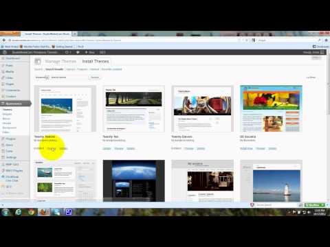 Install Twenty Twelve - Wordpress Theme -  Tutorial