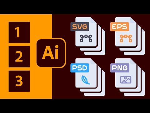 How to Convert Icons to SVG & PSD from Adobe Illustrator