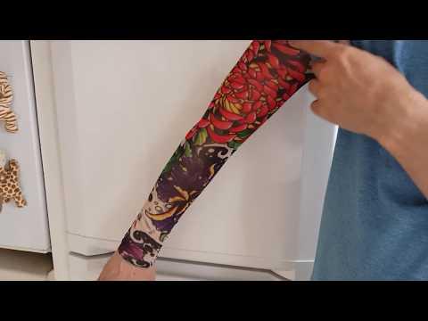 🎃Hawaii Stocking Tattoo Full Arm Sleeve Fancy Dress Party Idea